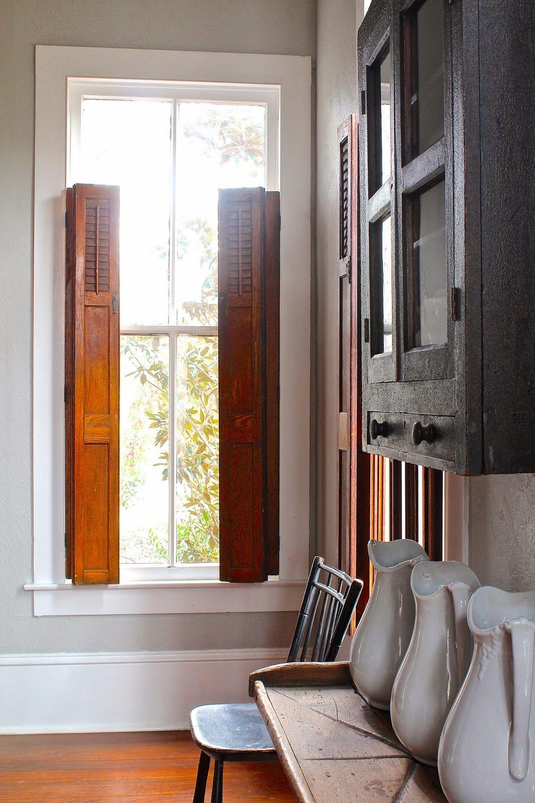 Curious details shutters indoor shutters wooden