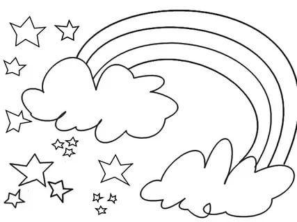 детская раскраска радуга с облаками: 37 тис. зображень ...