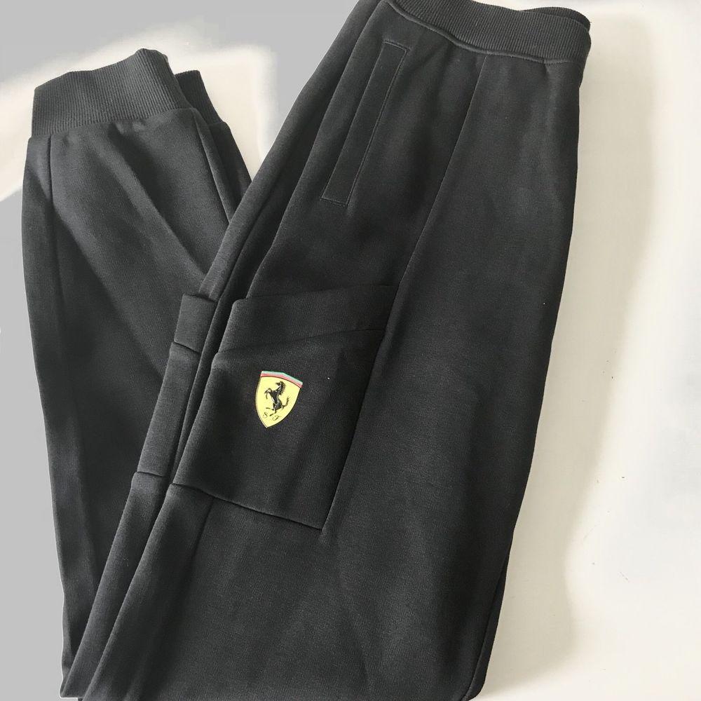 bcdc7a7405bd Puma Ferrari mens NEW black SF sweat pants medium lounge track cargo  pockets  PUMA  TrackSweatPants