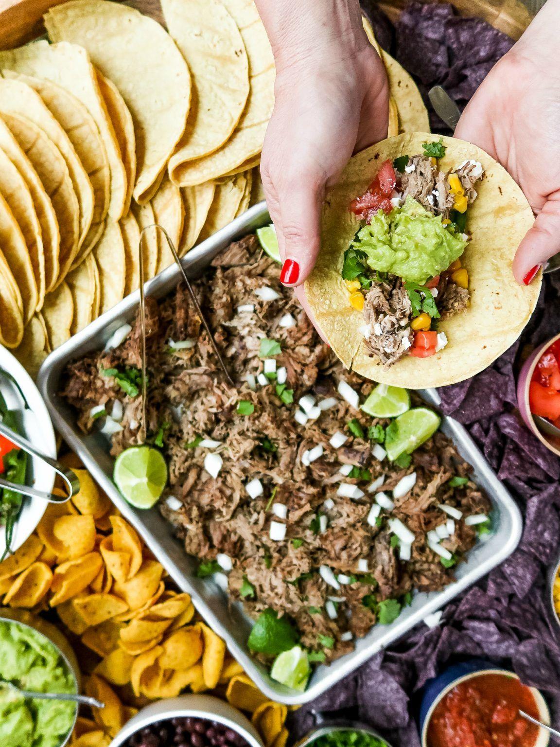 Easy pork carnitas taco board porkcarnitastacoboard