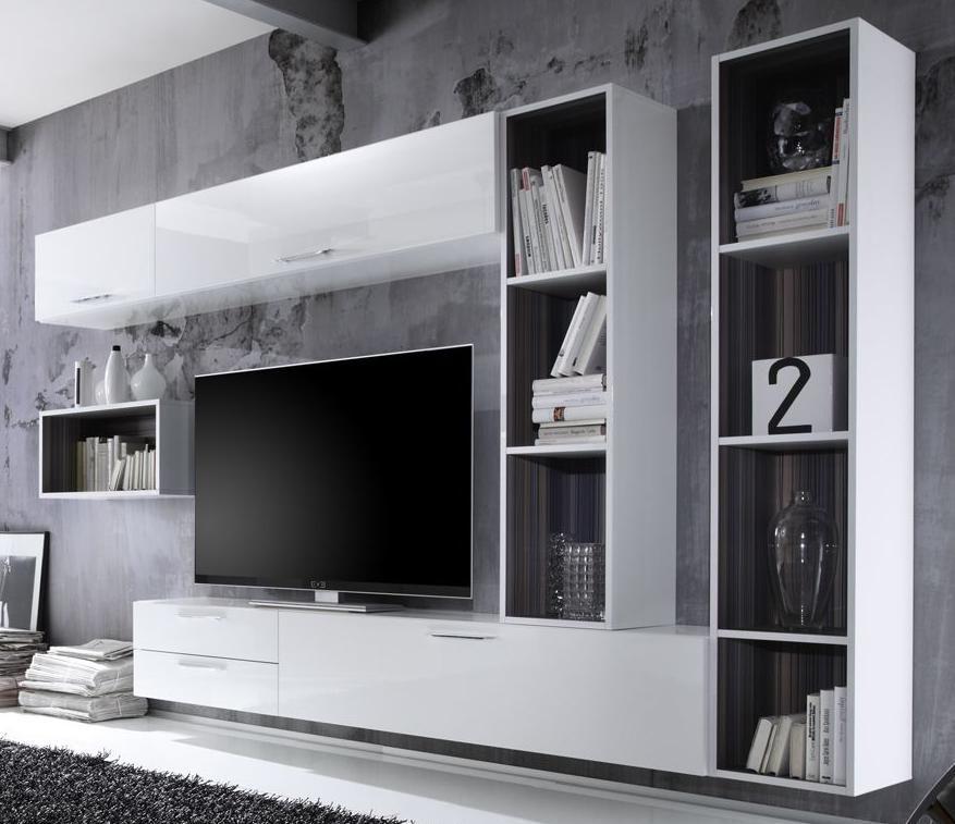 Wall mounted living room furniture from italian Lorenzo Campanelli