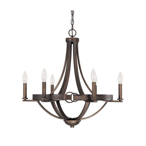Chastain tobacco six light chandelier without shades lighting chastain tobacco six light chandelier without shades aloadofball Choice Image