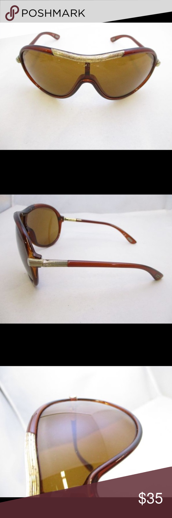 d90ba7a7bf Tom Ford Non Prescription Sunglasses Tom Ford Brown Nonprescription  Sunglasses. Measures  5.75