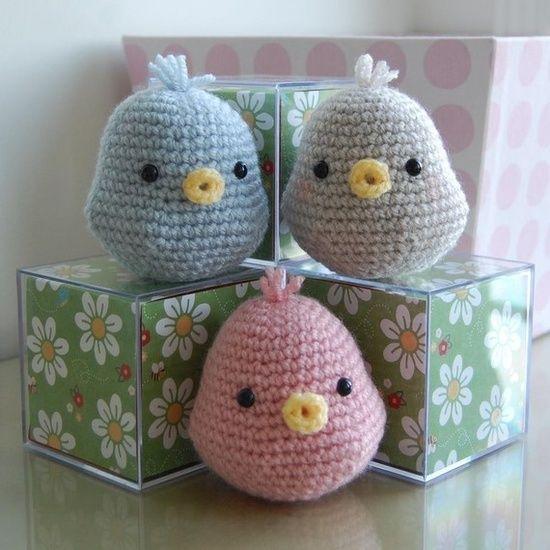 Passarinhos adoráveis #Amigurumi #croche #CoatsCorrente