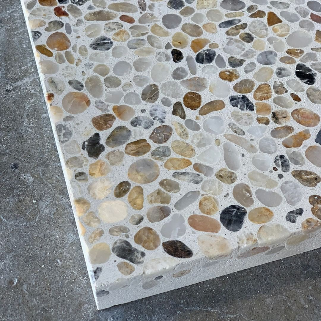 Concrete Collaborative On Instagram Celebrating Our New Pebble This Terrazzo Tuesday Alabaster Pebble Terrazzo