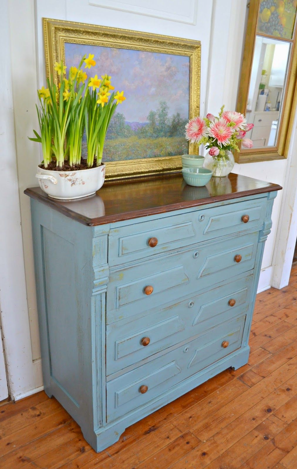 Heir and Space: An Antique French Blue Walnut Dresser
