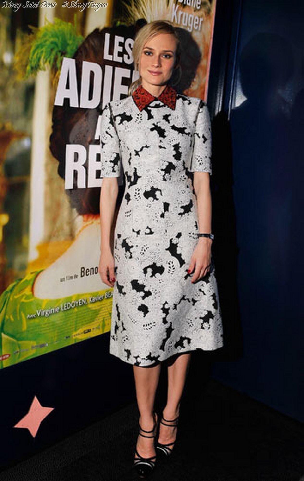 """Diane Kruger (""""Les adieux à la Reine""""). Premier."""