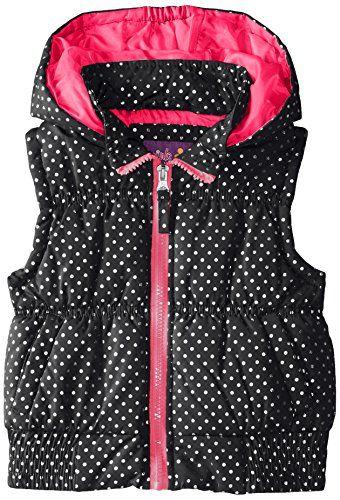 Pink Platinum Girls\' Puffer Vest In Foil Dot *** You can get ...