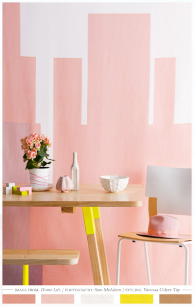 Fun & simple wall decoration with color!