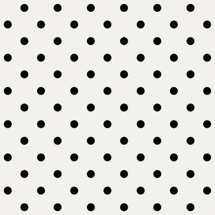 Nieuw Vliesbehang wit met zwarte stippen   Praxis SE-26