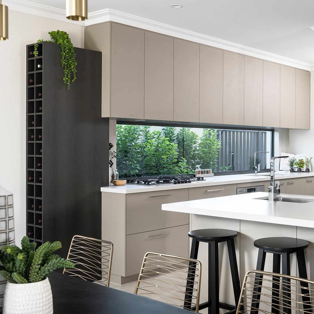 two tone cabinetry and jason window fixed window splash back make a stunning kitchen in the eden on kitchen interior with window id=46901