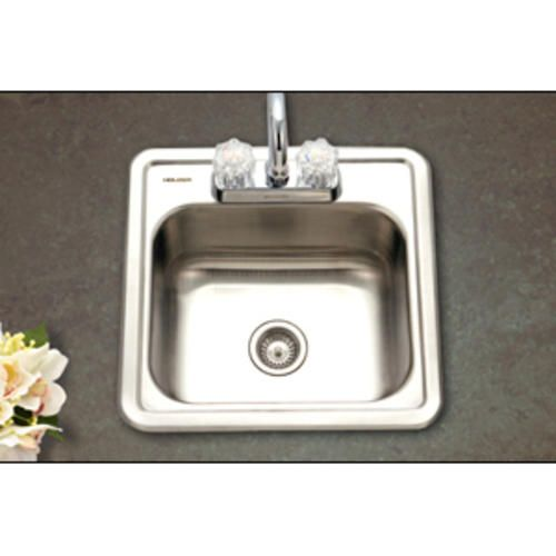 "Hospitality 15""x15"" Bar Sink 6""deep 2 Holes 24Ga Satin Mesmerizing Menards Kitchen Sinks Design Inspiration"