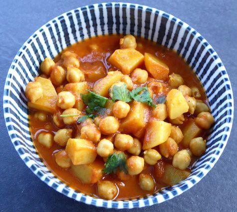 Kichererbsen-Kartoffel Curry