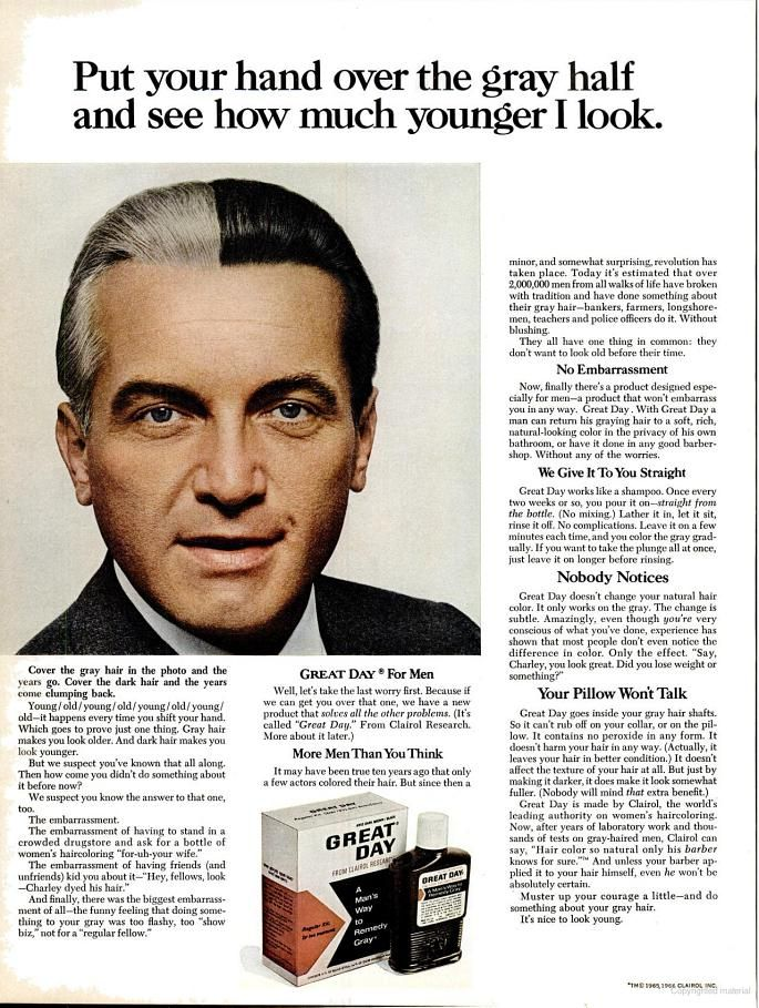 Great Day For Men Hair Color 1966 With Actor Ted Knight Love