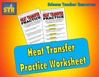 Heat Transfer Practice Worksheet | Heat transfer and Worksheets