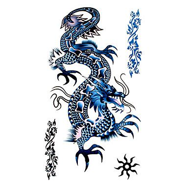 5 Buc Dragon Tatuaj Temporar Rezistent La Apa 17 5cm 10cm Eur 8 24 Tatuajes De Dragon Chino Tatuajes Dragones Tatuaje De Dragon