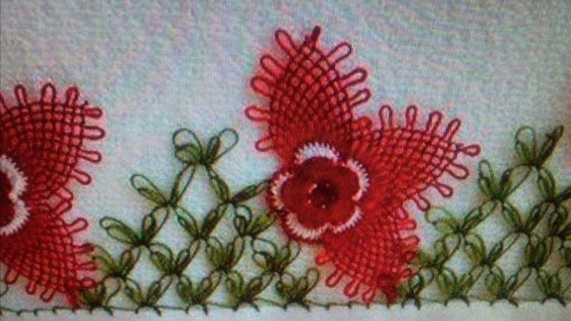 Çiçek İğne Oyası Modelleri