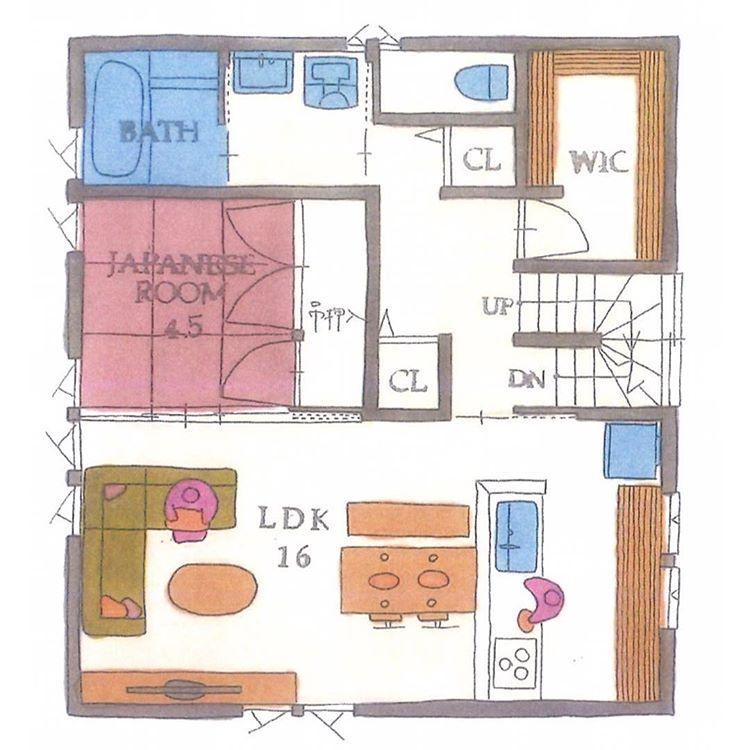 """清家修吾 on Instagram: """". 【ボツプラン603】 2階ホールのクローゼットは、北側に91cm広くできますね。 1階北側のWICは、そこそこ広さがあるのに物を置けるスペースが小さすぎて意味ないです。  間取りの基本的なところが押さえられてないので、自分の設計を根本から見直してほしいです。 .…"""""""