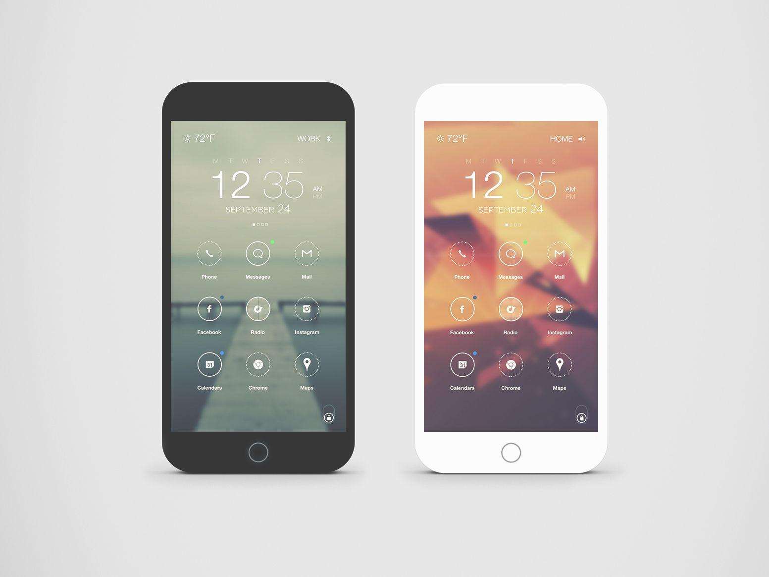 Clean iPhone OS Design by Jordi Verdu