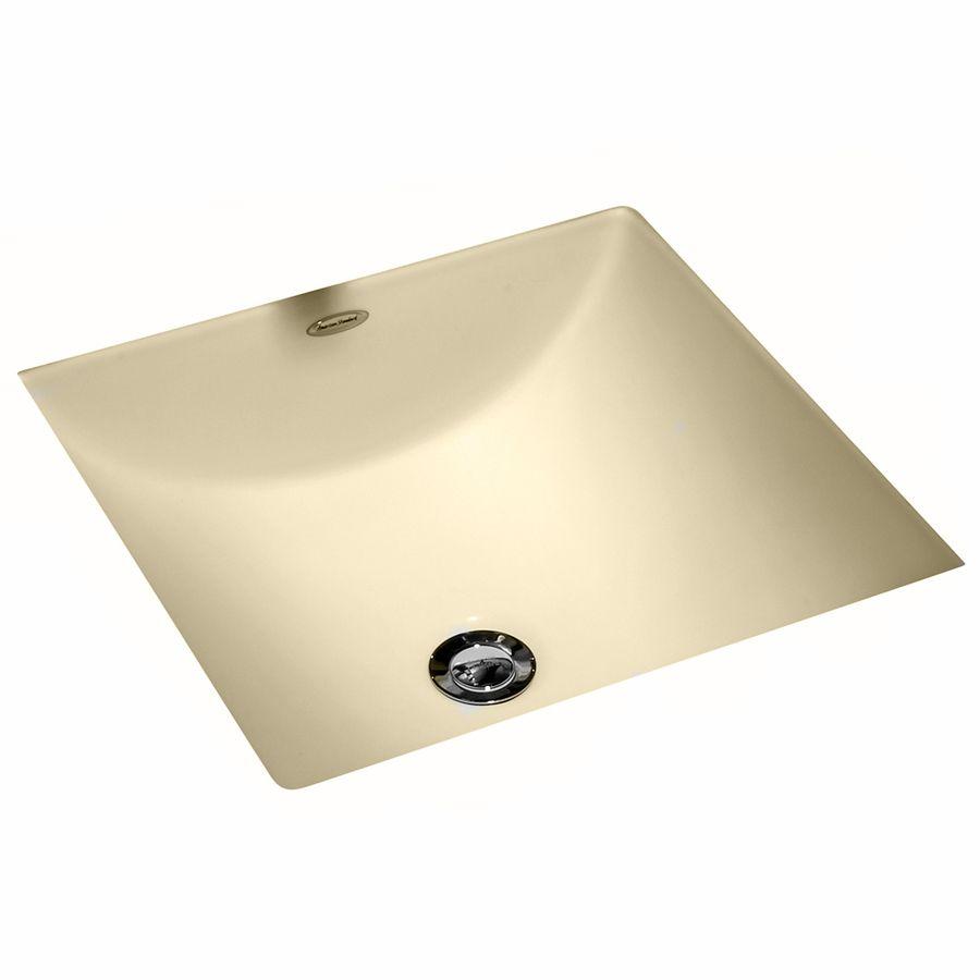 American Standard Studio Carre Bone Undermount Square Bathroom