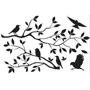 Bird silhouette...for old window pane