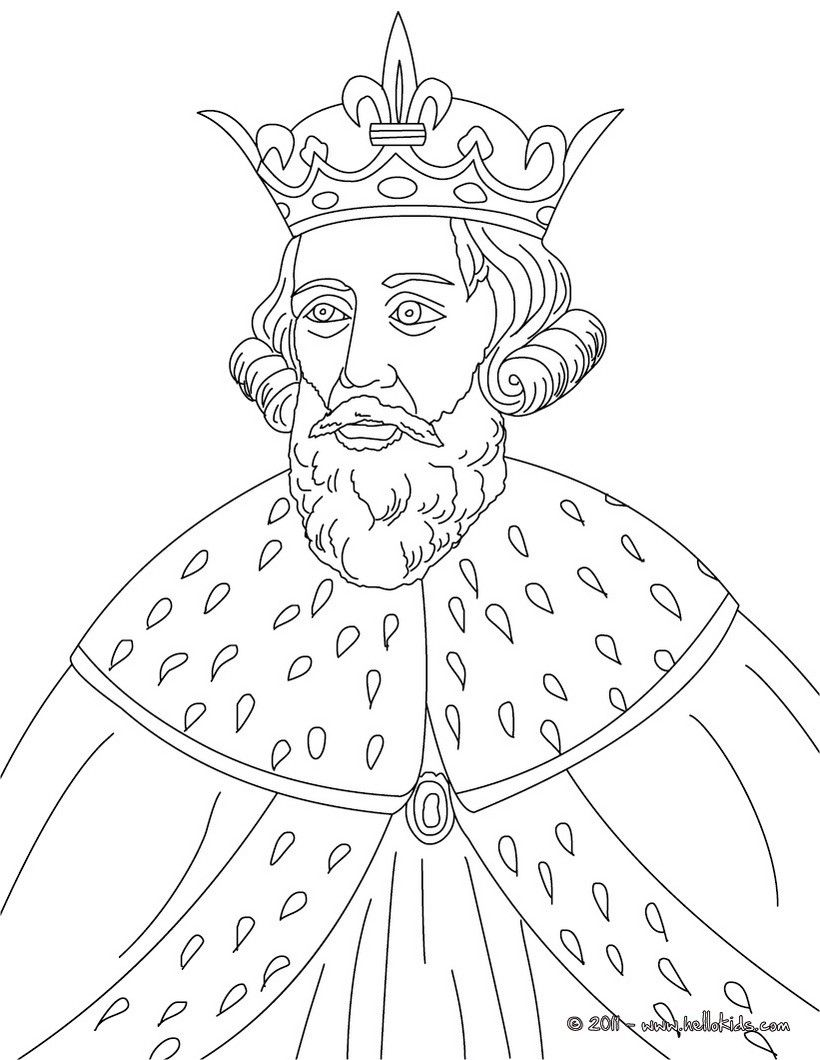 King Alfred The Great Coloring Page People Coloring Pages
