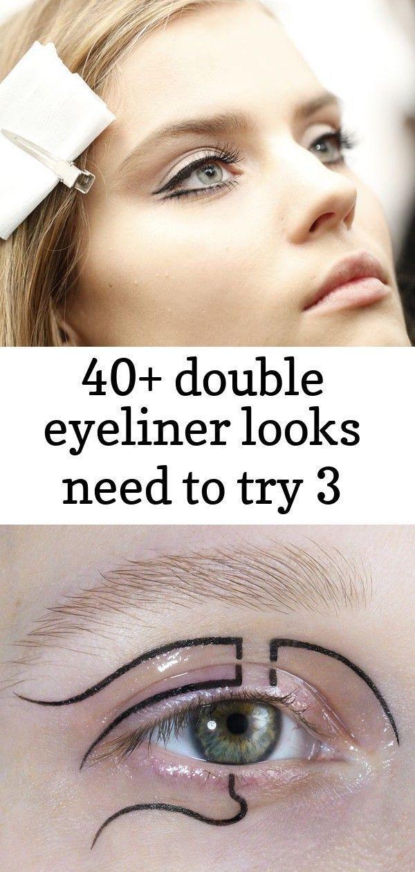40+ double eyeliner looks need to try 3 Stunning 40+ Double Eyeliner Looks Need To Try  WINGED EYEL