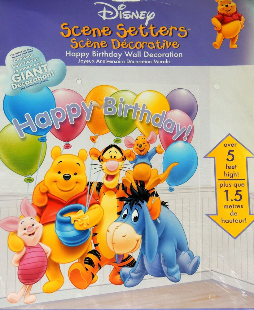 NEW WINNIE THE POOH SCENE SETTERS BIRTHDAY WALL DECORATION PARTY SUPPPLIES Party Birthday