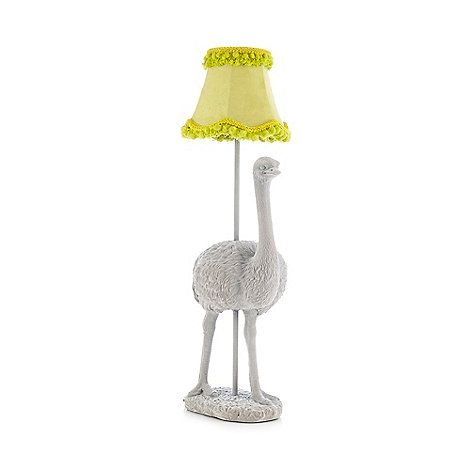 Abigail ahern edition grey ostrich lamp abigail ahernostricheshome interiorslimestable lampdebenhamskids