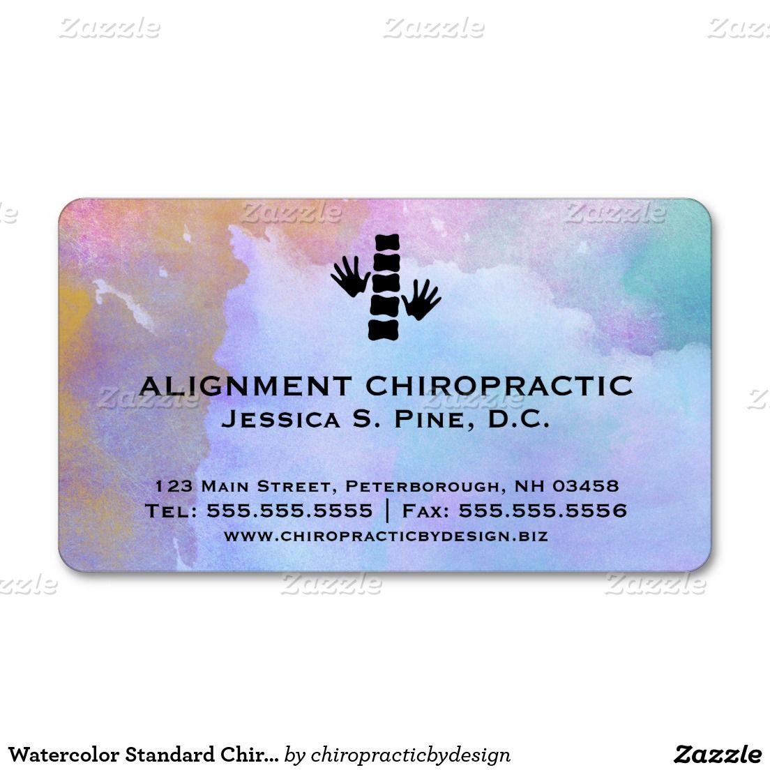 Watercolor Standard Chiropractic Business Cards Zazzle Com Cards Business Card Design Business Cards
