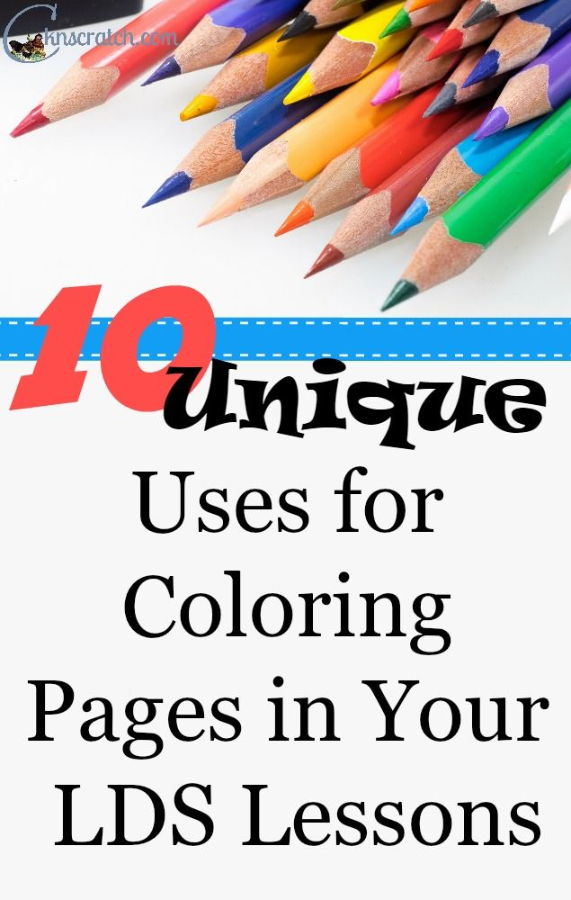 More than a Coloring Page: 10 Unique Uses for Your LDS Lessons | LDS