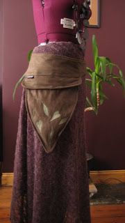 Woodland Fairy pocket / belt - Renaissance Costume  - need to make this.  no pattern, but whatevs!  so cute.