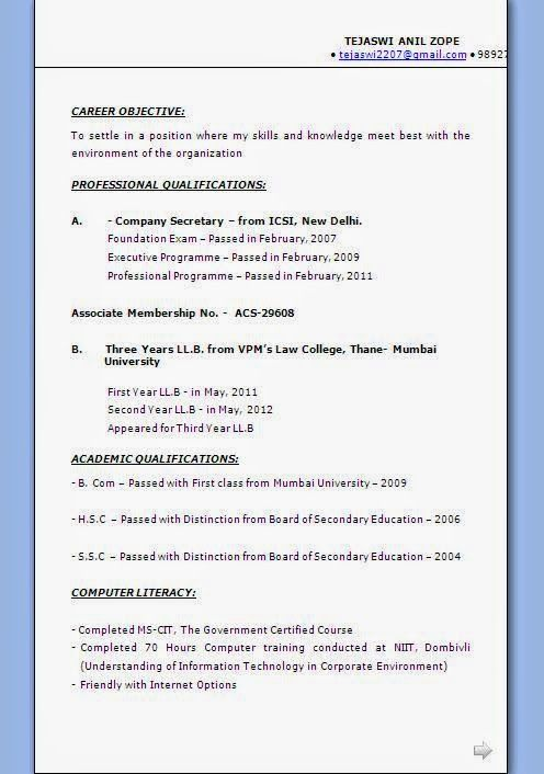 australian cv example Sample Template Example ofExcellent - example of career objective