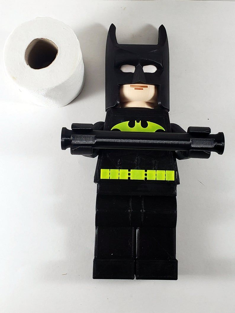 Batman Toilet Paper Holder Tp Holder 3d Printed Kids Etsy Batman Decor Batman Bathroom Decor Superhero Decorations Lego batman bathroom decor