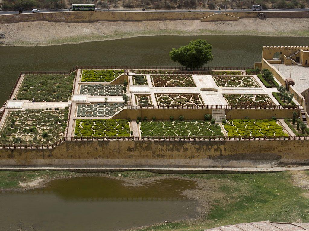 jaipur-rajasthan-india-amer-fort-d-kesar-kyari-bagh-gardens-of-amber ...
