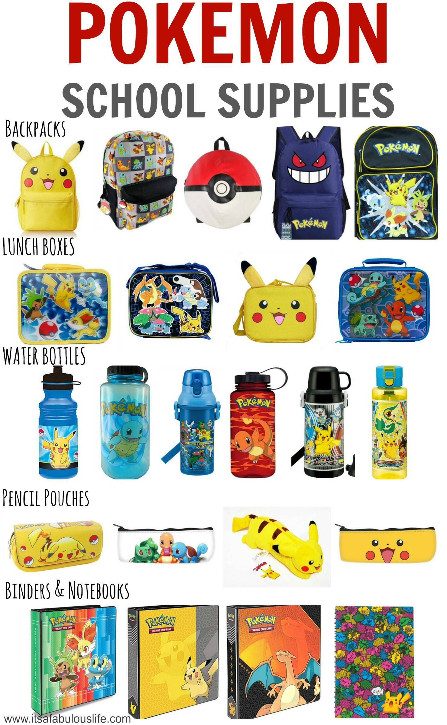 Pokemon School Supplies - LOVE this list! I can t find any in the stores by  me!!  ( aa0d7717f715d