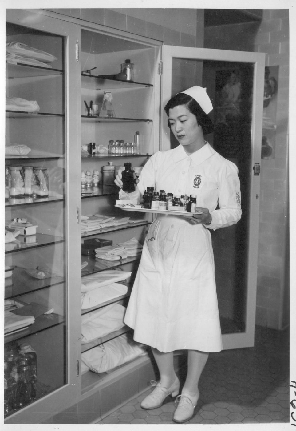 Nurse at the supply closet #nurse