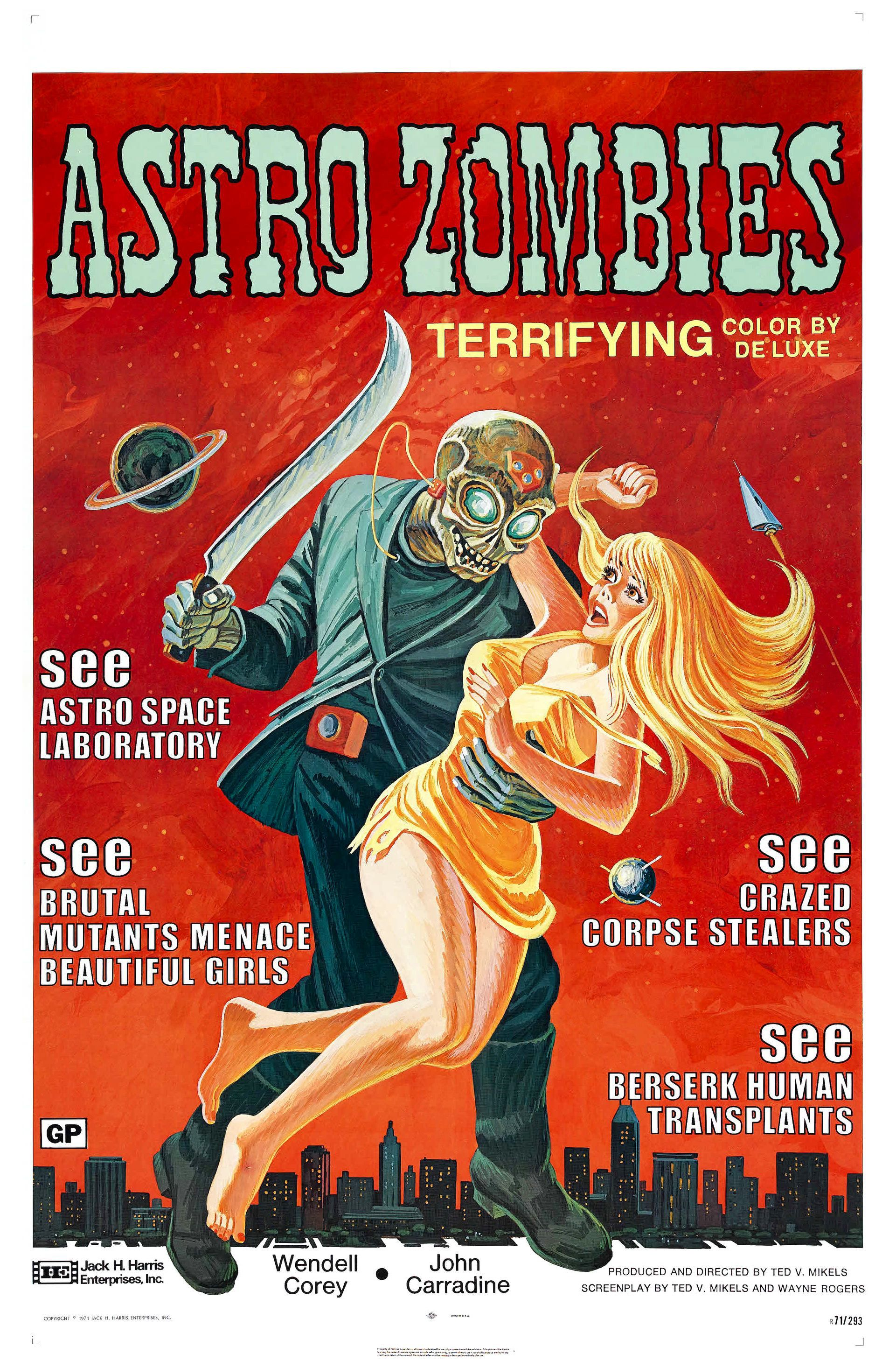 The Astro Zombies 1968 Astro Zombies Classic Horror Movies Posters Movie Posters Vintage