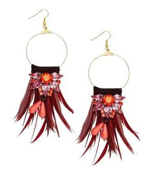 MATTHEW WILLIAMSON Tribal Earrings - Red