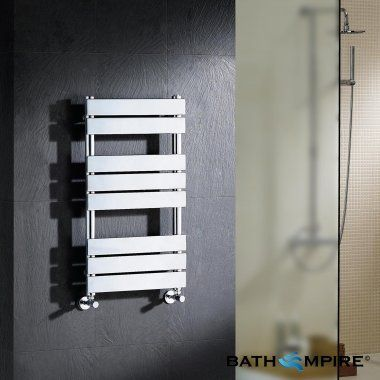 800 x 450 mm Francis Flat | Chrome Towel Radiator | BathEmpire - £130