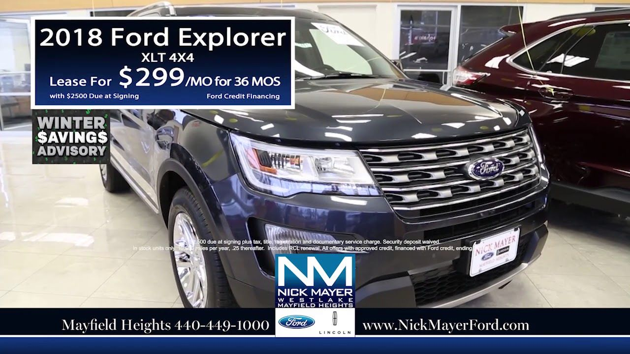 Buy A New Ford Explorer Solon Oh At Nick Mayer Ford Our Year End