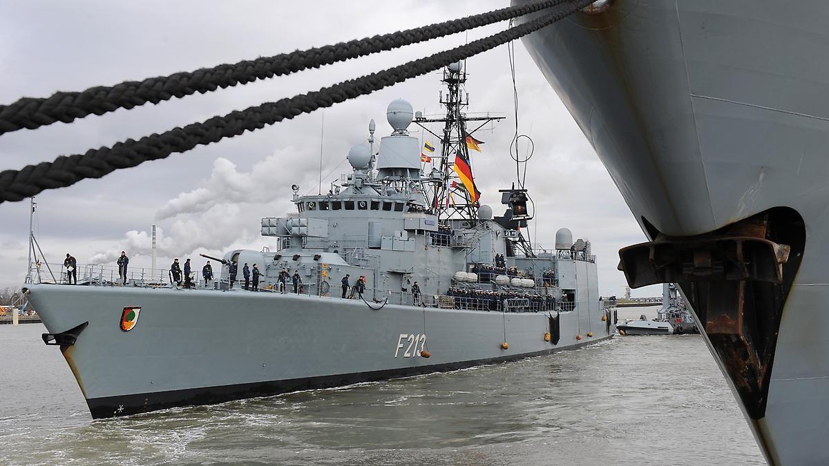 """Vier Monate Anti-Terror-Einsatz: Fregatte """"Augsburg"""" ist zurück"""