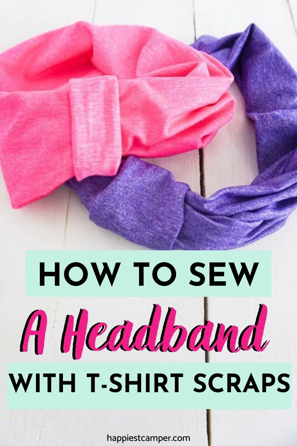 How to sew a headband with tshirt scraps in 2020 small