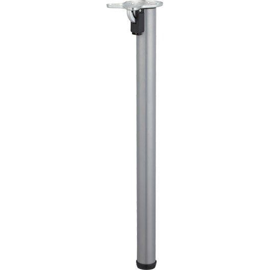 Pied De Table Cylindrique Rabattable Acier Epoxy Gris 71 Cm Pied Meuble Pieds De Table Table Rabattable