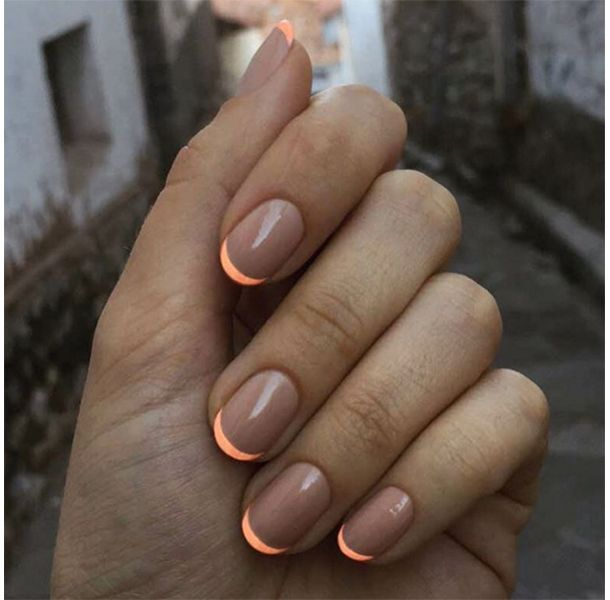 7 Fruhlings French Manikure Ideen Makeup Ulta Beauty Minimalist Nails French Tip Nails Neon Nails