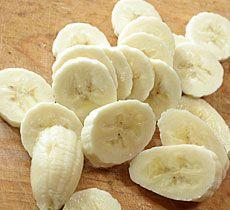 mousse de plátano paso 1