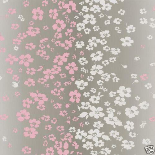 tapete p s 05710 50 blumen grau rosa wei 1 87 m ebay. Black Bedroom Furniture Sets. Home Design Ideas