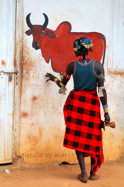 Africa |  Hamer man photographed at Turmi Market, Omo Valley, Ethiopia | © Alessia de Marco