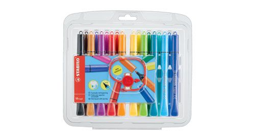 Stabilo Cappi Colouring Pens  - Wallet of 18
