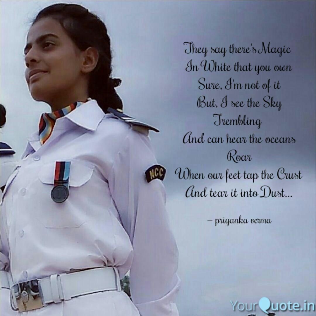 A magic uniform  Indian army quotes, Navy quotes, Army women quotes